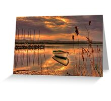 Golden twilight Greeting Card