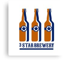 Beer Bottles Star Brewery Retro Canvas Print