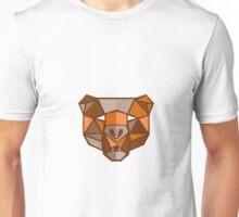 Brown Bear Head Low Polygon Unisex T-Shirt