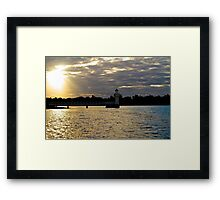 Port Macquarie sunset Framed Print
