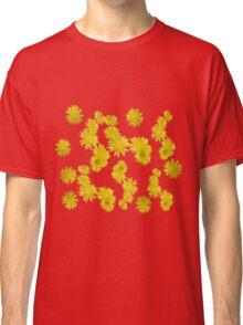 Pissenlits en fleurs sur fond bodacious Classic T-Shirt