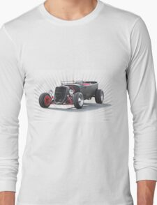 Ford 'Jalopy Style' Hot Rod Long Sleeve T-Shirt