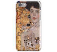 Gustav Klimt - Portrait Of Adele Bloch-Bauer, 1907 Detal 2 iPhone Case/Skin