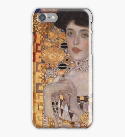 Gustav Klimt - Portrait Of Adele Bloch-Bauer, 1907 Detal 2 iPhone Case/Skin