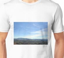 Natural landscape with the hills of San Marino Unisex T-Shirt