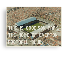 Everton Football Club Canvas Print