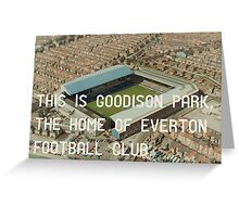 Everton Football Club Greeting Card