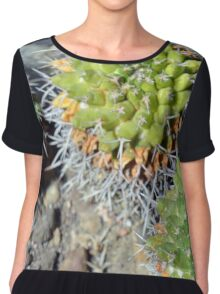 Round cactus on the ground Chiffon Top