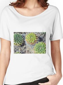 Round cactus on the ground Women's Relaxed Fit T-Shirt