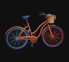 bicyclette islandaise dans le noir Kids Tee
