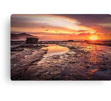 Coalcliff colour splash Canvas Print