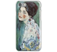 Gustav Klimt - Portrait Of A Lady 2 iPhone Case/Skin