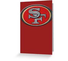 Steel San Francisco 49ers Logo Greeting Card