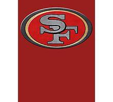 Steel San Francisco 49ers Logo Photographic Print