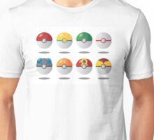 Some pokeballs Unisex T-Shirt