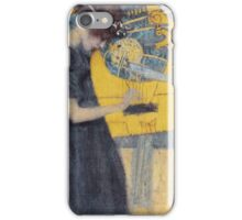 Gustav Klimt - Music 1 1895 iPhone Case/Skin