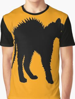 Angry Black Cat Graphic T-Shirt