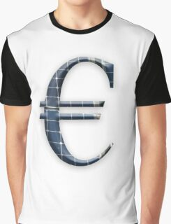 Euro symbol with photovoltaic solar panels.  Graphic T-Shirt