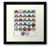 More pokeballs. Framed Print