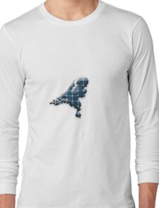 Map of the Netherlands with photovoltaic solar panels.  Long Sleeve T-Shirt