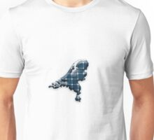 Map of the Netherlands with photovoltaic solar panels.  Unisex T-Shirt