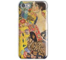 Gustav Klimt - Lady With Fan 1918 iPhone Case/Skin