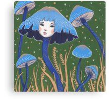 Uncommon Variety - Blue Mushroom Canvas Print