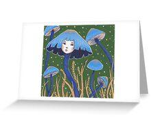 Uncommon Variety - Blue Mushroom Greeting Card