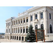 The Cultural Palace (east side) in Drobeta Turnu Severin, Romania Photographic Print