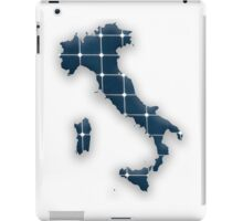 Map of Italy with photovoltaic solar panels.  iPad Case/Skin