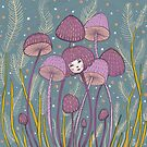 Uncommon Variety - Purple Mushroom by Emma Hampton