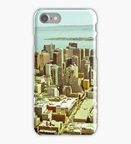 Vintage Aerial Dimensions SF  iPhone Case/Skin