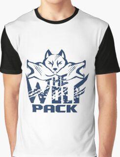 Wolf Pack Grunge Retro Graphic T-Shirt