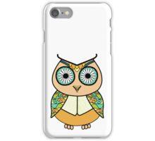 Flower-eyed owl iPhone Case/Skin