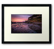 Sea Cliff Road at dawn Framed Print