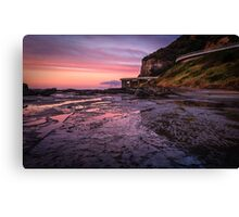 Sea Cliff Road at dawn Canvas Print