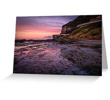 Sea Cliff Road at dawn Greeting Card