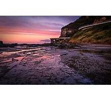 Sea Cliff Road at dawn Photographic Print