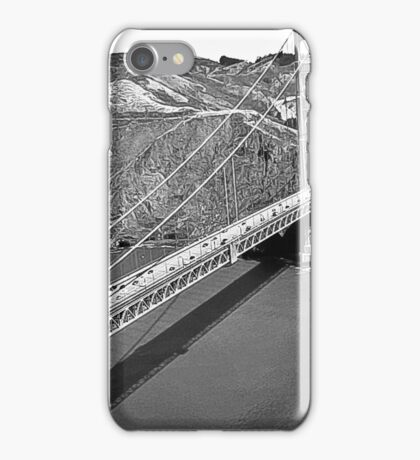 Aerial Golden Gate SF Black and White  iPhone Case/Skin
