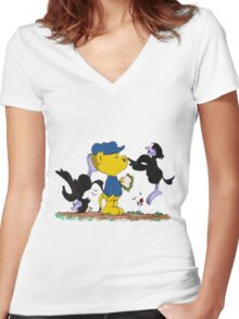 Ferald and The Pesky Crows Women's Fitted V-Neck T-Shirt