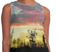 Sunset Silhouette  Contrast Tank