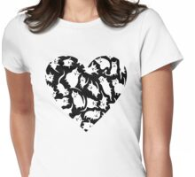 Crazy Cat Heart  Womens Fitted T-Shirt