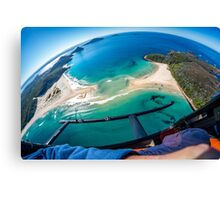 Helicopter Over Port Stephens Canvas Print