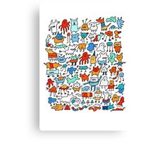 Mad Monster Friends Canvas Print