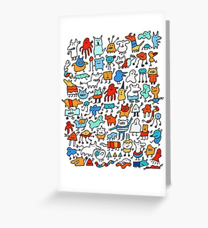 Mad Monster Friends Greeting Card