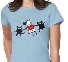 Happy Jumping Cats Womens Fitted T-Shirt