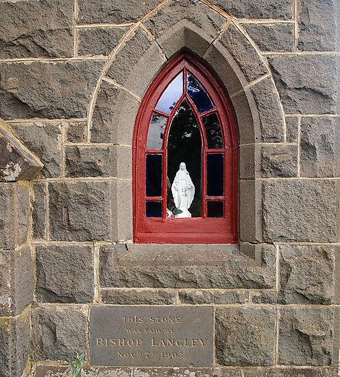 Our Lady, the Blessed Virgin Mary - Jesus' mother at St Mary's Woodend by Margaret Morgan (Watkins)