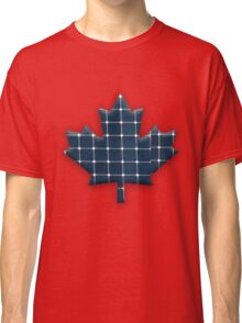 Canadian maple leaf with photovoltaic solar panels. Classic T-Shirt
