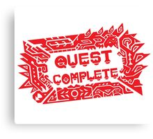 Monster Hunter Quest Complete angled Canvas Print