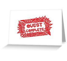 Monster Hunter Quest Complete angled Greeting Card